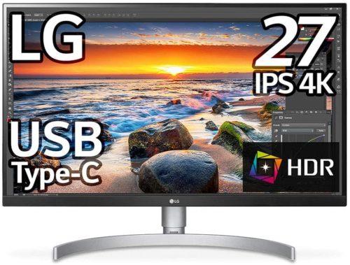 LG モニター ディスプレイ 27UK850-W 27インチを職場に持ち込む